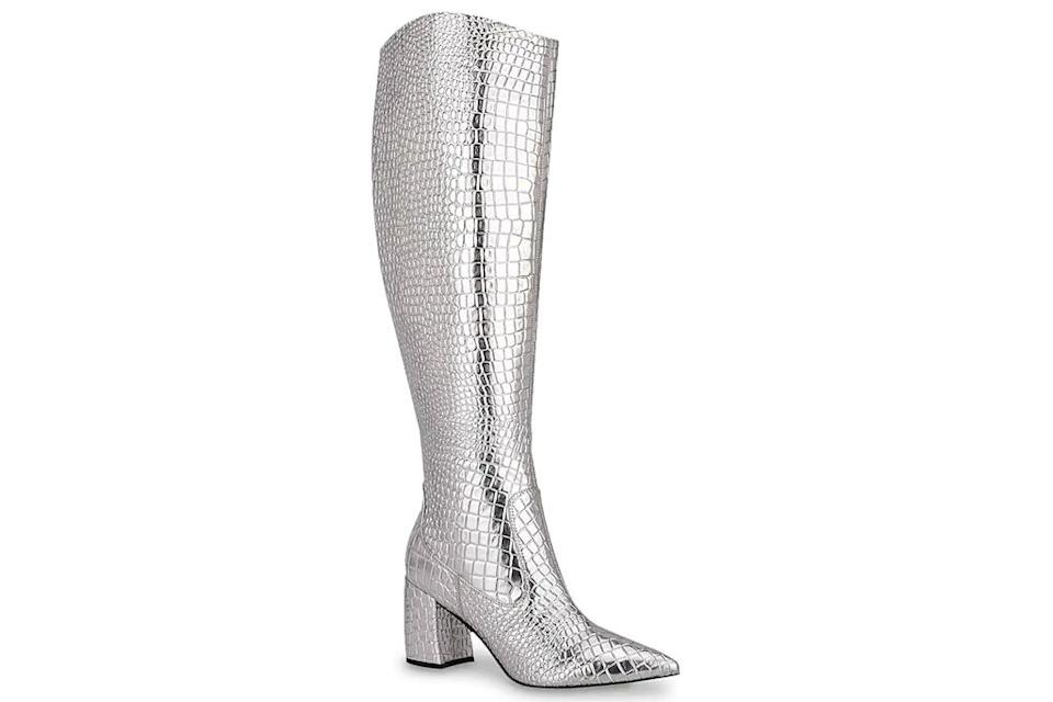 silver boots, marc fisher