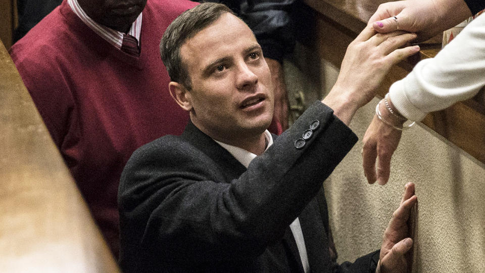 Oscar Pistorius, pictured here in court in South Africa in 2016.