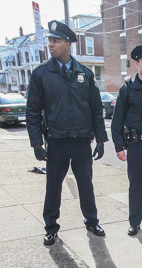 "<span class=""icon icon--xs icon__camera"">  </span> <span class=""credit font--s-m upper black""> <b>MICHAEL BRYANT / File photo</b> </span> <div class=""caption space-half--right font--s-m gray--med db""> Philadelphia Police Officer Cyrus Mann walking his beat at Frankford Avenue and Dyre Street in March 2010. </div>"