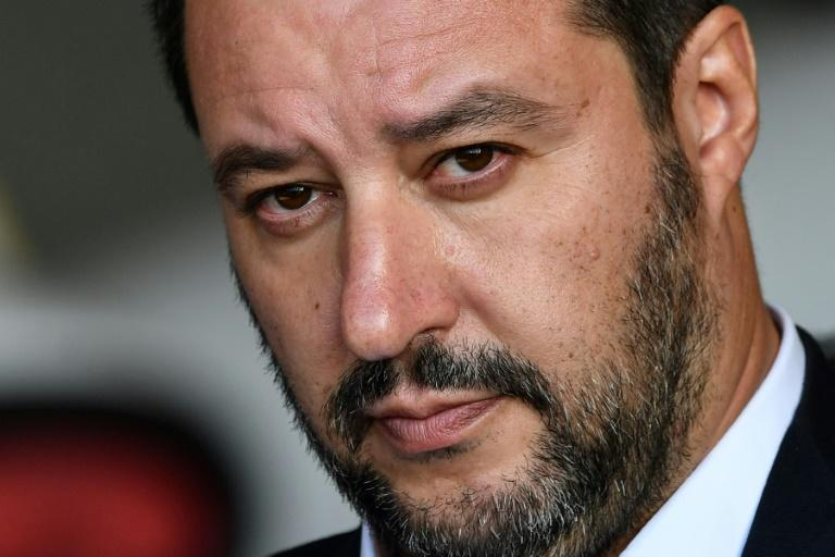 """Italy's Interior Minister Matteo Salvini, pictured in November 2018, tweeted about a swoop on the Italian Mafia in Sicily and immediately afterwards about the """"arrest in Turin of 15 other Nigerian mafia members"""""""