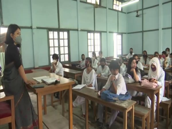Visuals from a classroom in Assam (Photo/ANI)