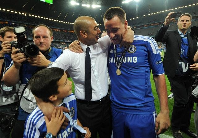It was redemption for Terry, who was suspended for the final but donned a full strip to celebrate, four years later as Chelsea beat Bayern Munich (Owen Humphreys/PA)