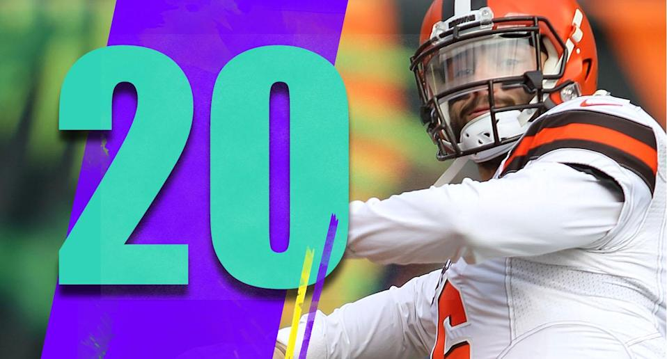 <p>Baker Mayfield made some tremendous plays on Sunday. He doesn't look like a rookie. He's the star the Browns have desperately been looking for. (Baker Mayfield) </p>