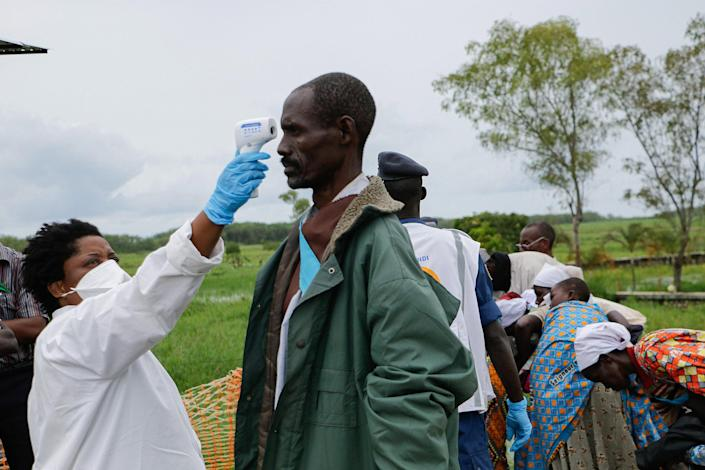 Image: COVID-19 prevention in the Democratic Republic of the Congo (Onesphore Nibigira / AFP - Getty Images)