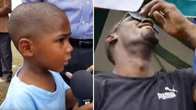Adorable Kid Has Usain Bolt In Stitches With Hilarious Question