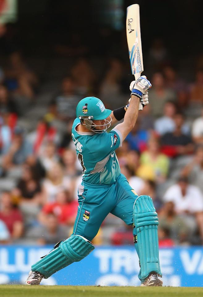MELBOURNE, AUSTRALIA - JANUARY 15: Daniel Christian of the Heat bats during the Big Bash League Semi-Final match between the Melbourne Renegades and the Brisbane Heat at Etihad Stadium on January 15, 2013 in Melbourne, Australia.  (Photo by Robert Cianflone/Getty Images)
