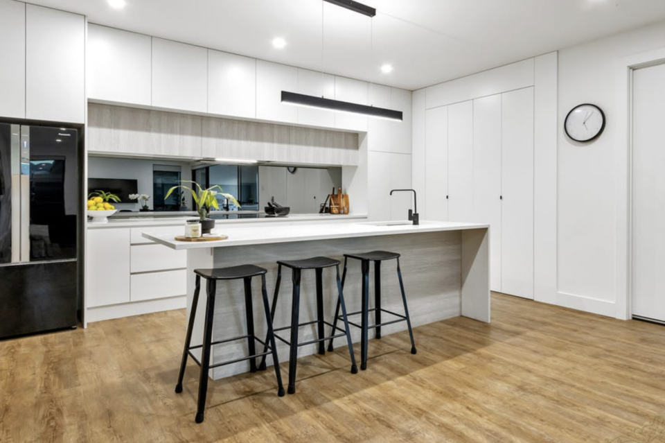 Kitchen inside the home located at 13 Warren Avenue