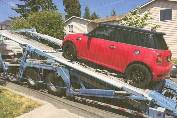PHOTO: The first car Cari Swanger purchased was this red Mini Cooper. (Courtesy Cari Swanger)