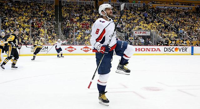Alex Ovechkin was a beast against the Pittsburgh Penguins. (Photo by Kirk Irwin/Getty Images)