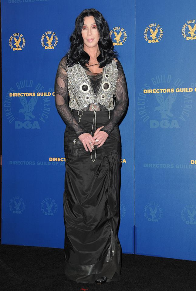 """<a href=""""http://movies.yahoo.com/movie/contributor/1800023318"""">Cher</a> at the 62nd Annual Directors Guild of America Awards in Century City, California on January 30, 2010."""
