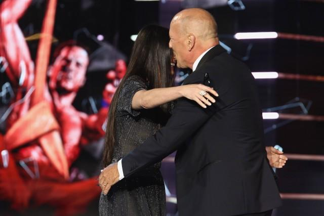 Demi Moore and Bruce Willis hug at Roast of Bruce Willis 2018