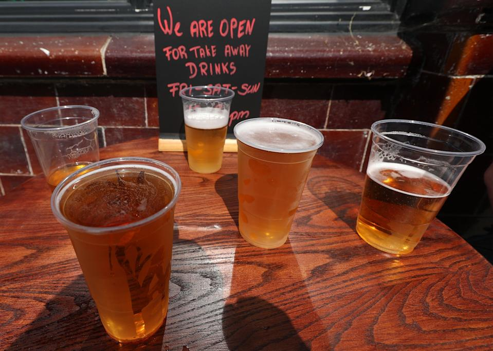 <p>Pubs were allowed to reopen for outdoors service on April 12 in England</p> (PA Archive)