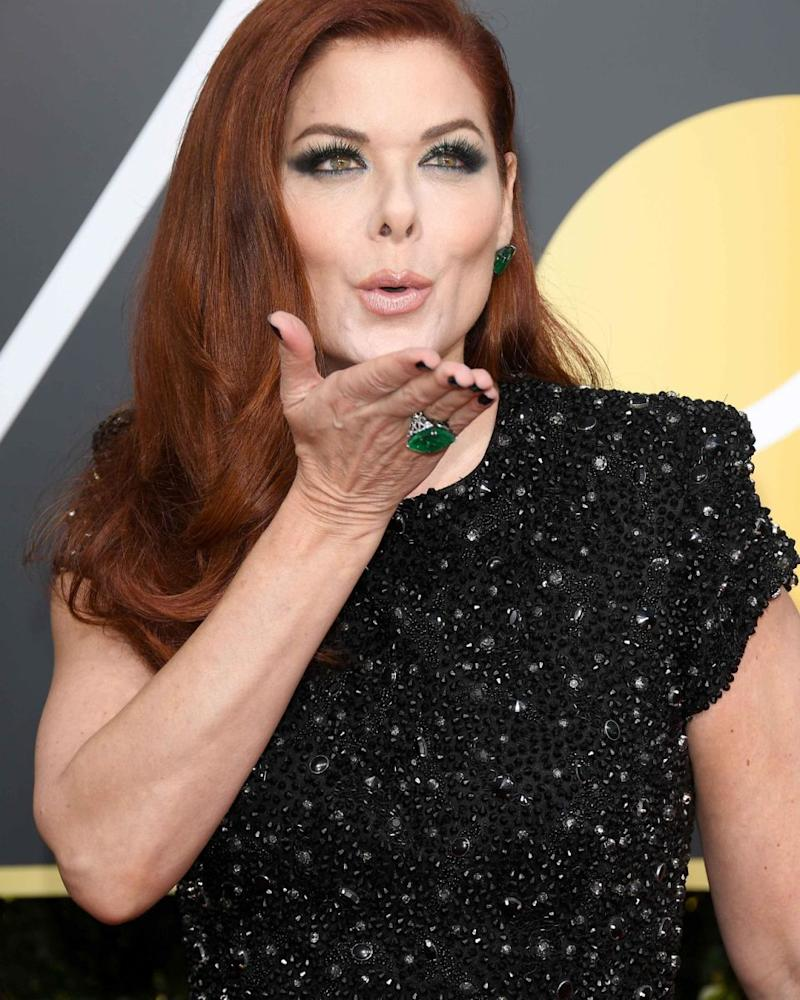 Many fans came out in support of Debra's brave statement of support for Catt on Twitter. The actress looked stunning in black at on the red carpet. Source: Getty