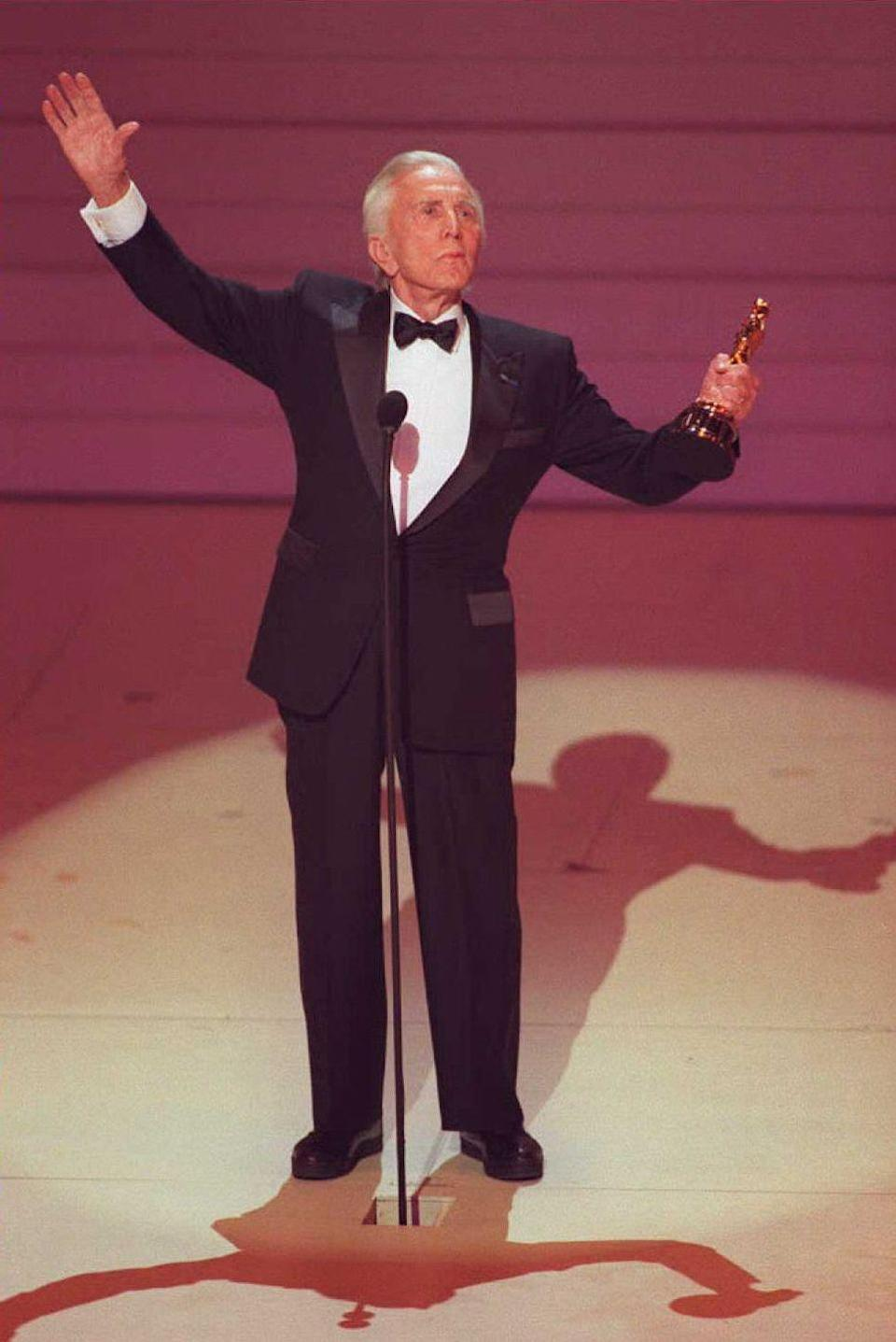 <p>Douglas received the Academy Award Lifetime Achievement Award at the 68th annual awards show. </p>