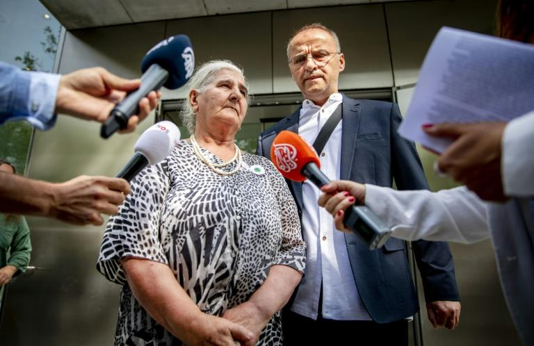 Relatives of the Srebrenica victims were represented by the Mothers of Srebrenica group, which was suing for compensation (AFP Photo/Remko de Waal)