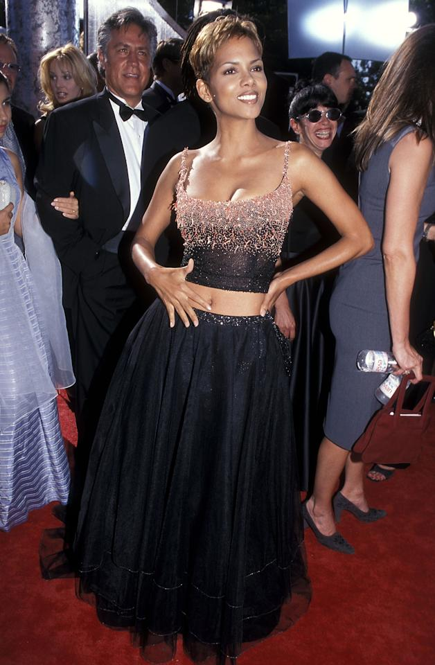 LOS ANGELES - SEPTEMBER 12:   Actress Halle Berry attends the 51st Annual Primetime Emmy Awards on September 12, 1999 at Shrine Auditorium in Los Angeles, California. (photo by Ron Galella, Ltd./WireImage)