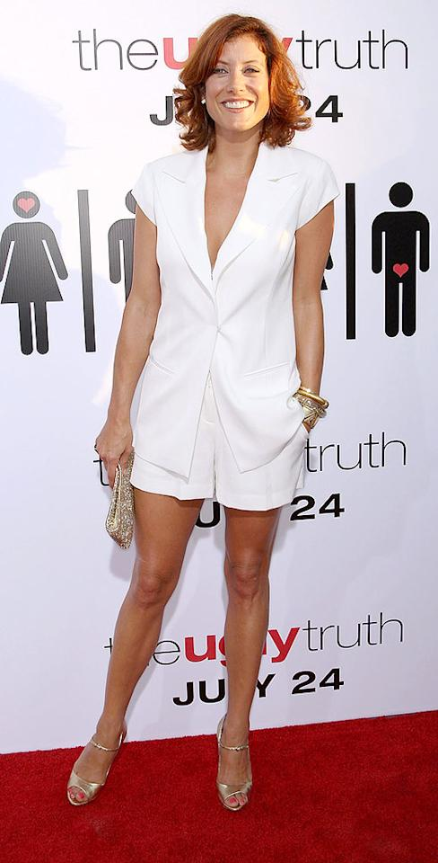 """Heigl's former """"Grey's Anatomy"""" co-star, Kate Walsh, was also in attendance. The """"Private Practice"""" hottie rocked the red carpet in an Isabella Oliver-designed sleeveless blazer and shorts, which she paired with gold accents, including a pair of Moschino peep toes. Frederick M. Brown/<a href=""""http://www.gettyimages.com/"""" target=""""new"""">GettyImages.com</a> - July 16, 2009"""