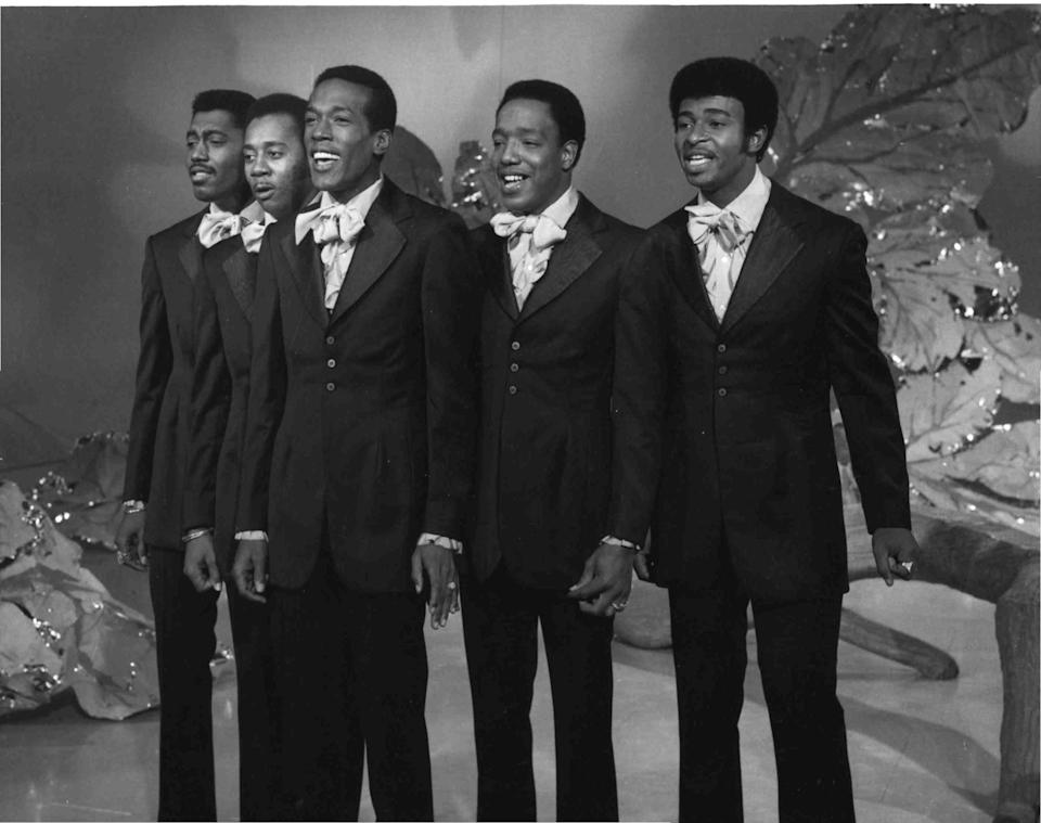 """The Temptations perform """"I Can't Get Next to You"""" on """"The Ed Sullivan Show"""" on Sept. 28, 1969."""