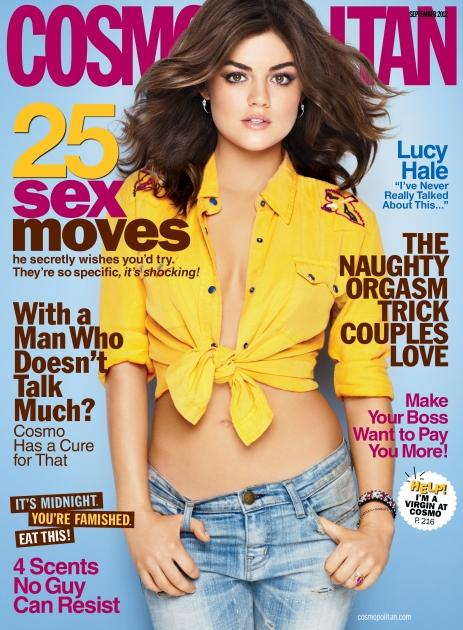 Lucy Hale on the September 2012 cover of Cosmopolitan -- Cosmopolitan