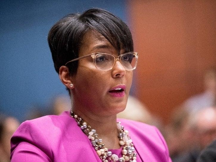 "In response to a Facebook meme of a backward-pointing revolver, Gilmer County Sheriff Stacy Nicholson commented that it would be ""perfect"" for Atlanta Mayor Keisha Lance Bottoms."