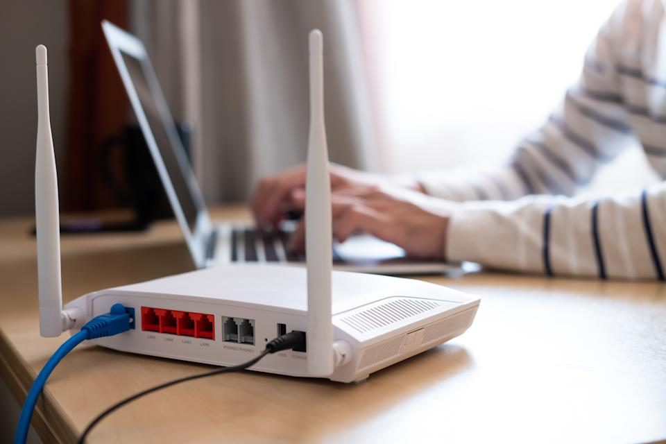 Slow internet on your computer? It could be your Wi-Fi router. (Photo: Getty)
