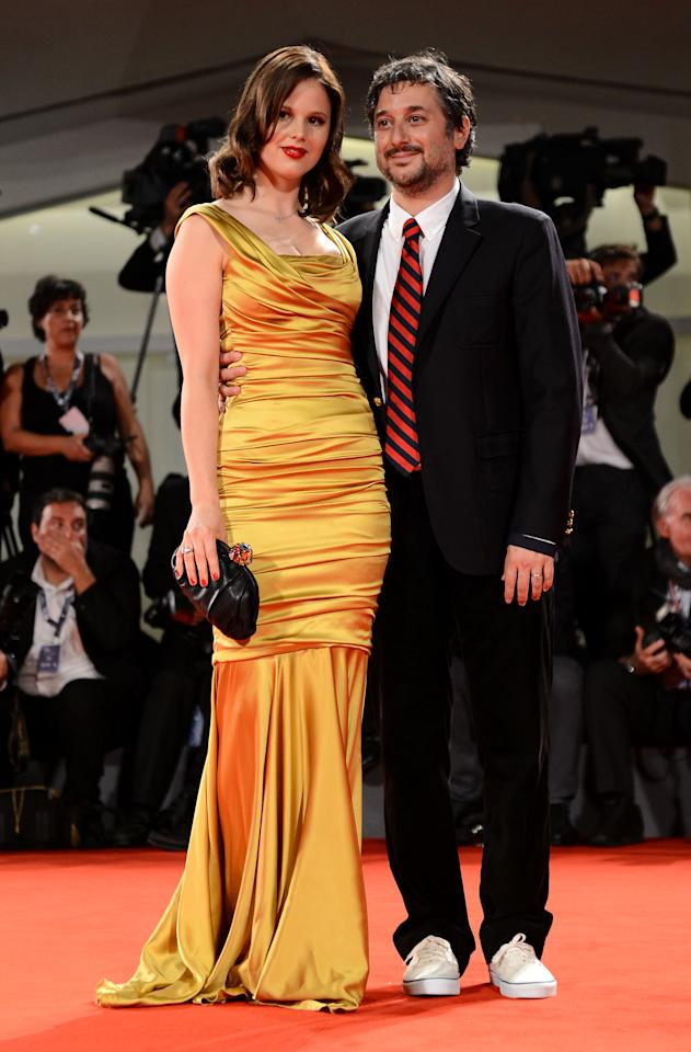 """VENICE, ITALY - SEPTEMBER 05:  Actress Rachel Korine and director Harmony Korine attend the """"Spring Breakers"""" Premiere during The 69th Venice Film Festival at the Palazzo del Cinema on September 5, 2012 in Venice, Italy.  (Photo by Ian Gavan/Getty Images)"""