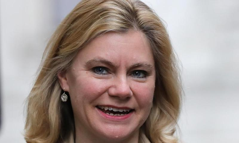 Education secretary Justine Greening arrives for a cabinet meeting.