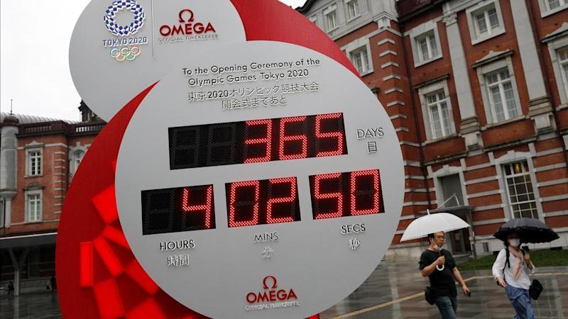 A countdown clock for Tokyo Olympic Games