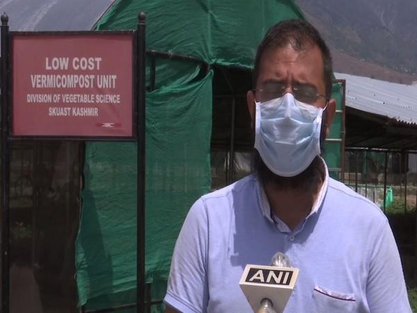 Dr Rizwan, Assistant Professor of Sher-e-Kashmir University of Agriculture Scientists and Technology speaking to ANI. [Photo/ANI]