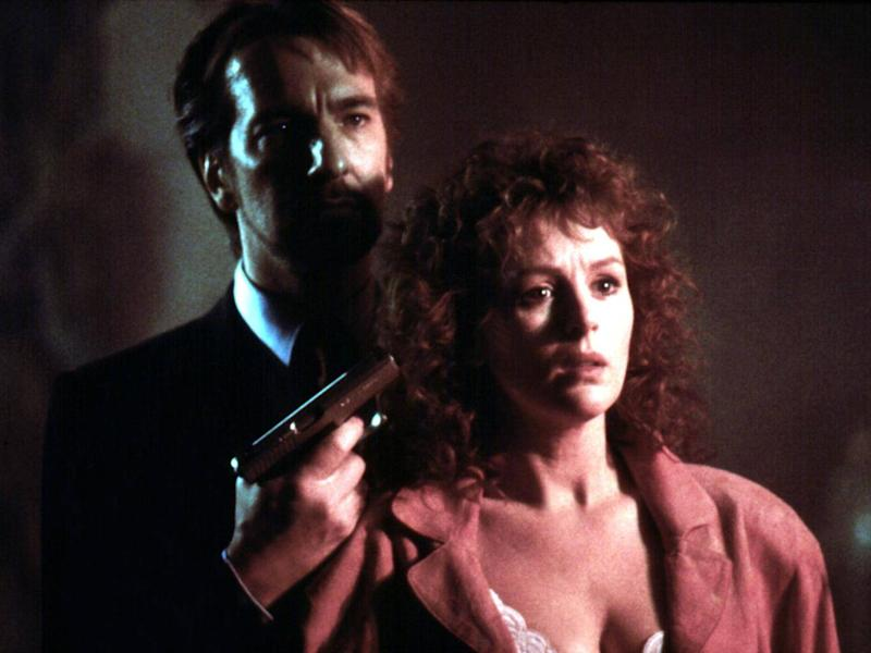 Rickman with Bonnie Bedelia in 'Die Hard': the actors didn't expect the film to be such a huge success (Rex)