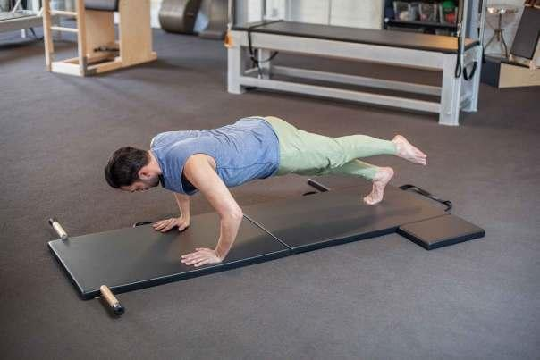 The Folding Mat from Contrology is the ultimate upgrade on the traditional exercise mat. Photo courtesy of Contrology
