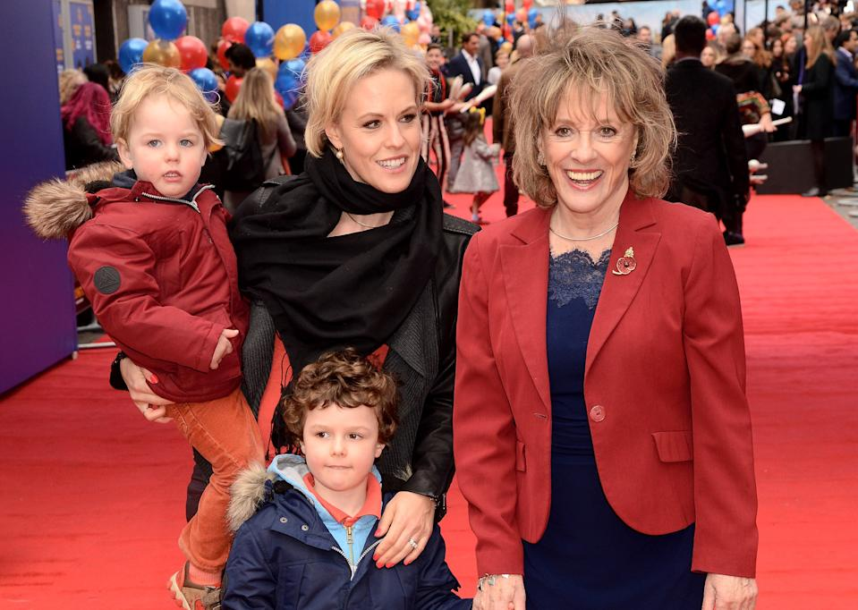 Esther Rantzen with her daughter Rebecca and two of her grandchildren. (Getty Images)