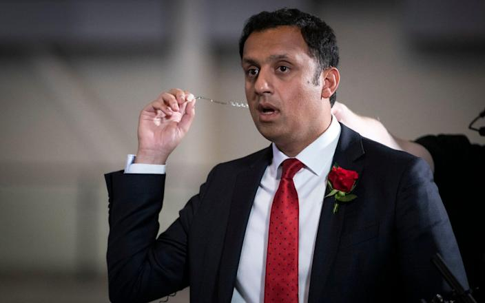 The Scottish Labour leader also accused the Tories of 'pushing voters into the hands of the SNP' - PA