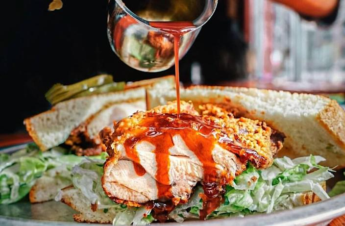 Kenty Chung recommends ordering hot chili oil on the side during a trip to Beasley's Chicken + Honey.