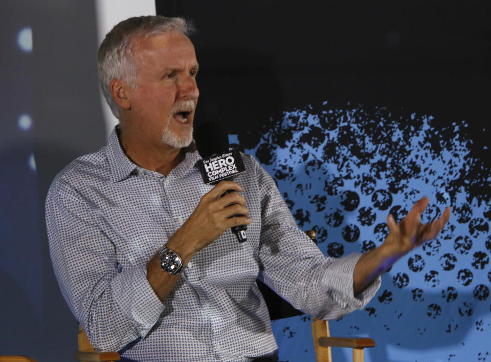 HOLLYWOOD, CA. - MAY 31, 2014: Q & A of writer/director James Cameron from