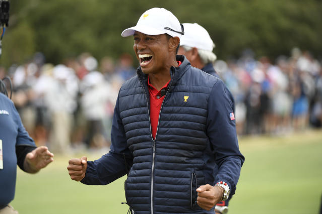 Tiger Woods is one of 10 finalists for the World Golf Hall of Fame's 2021 class. (Chris Condon/PGA TOUR/Getty Images)