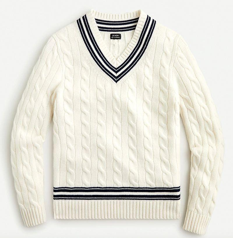 """<p><strong>J.Crew</strong></p><p>jcrew.com</p><p><strong>$298.00</strong></p><p><a href=""""https://go.redirectingat.com?id=74968X1596630&url=https%3A%2F%2Fwww.jcrew.com%2Fp%2FAV858&sref=https%3A%2F%2Fwww.esquire.com%2Fstyle%2Fmens-fashion%2Fg14012516%2Fcable-knit-sweaters-men%2F"""" rel=""""nofollow noopener"""" target=""""_blank"""" data-ylk=""""slk:Buy"""" class=""""link rapid-noclick-resp"""">Buy</a></p><p>The country club special. </p>"""