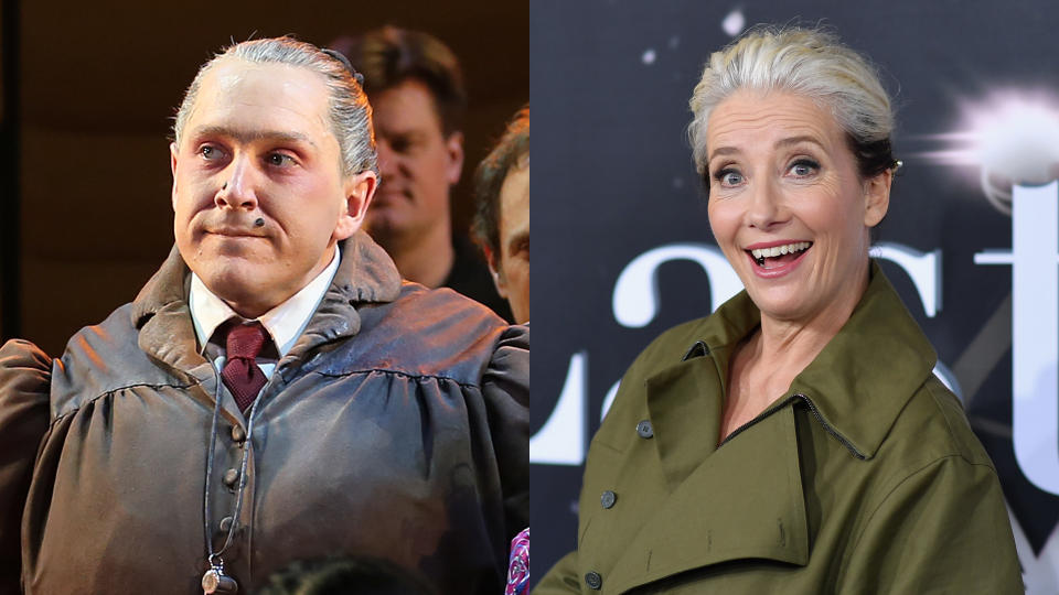 Emma Thompson will play the Miss Trunchbull role originated by Bertie Carvel. (Credit: Walter McBride/Corbis/Angela Weiss/AFP/Getty Images)