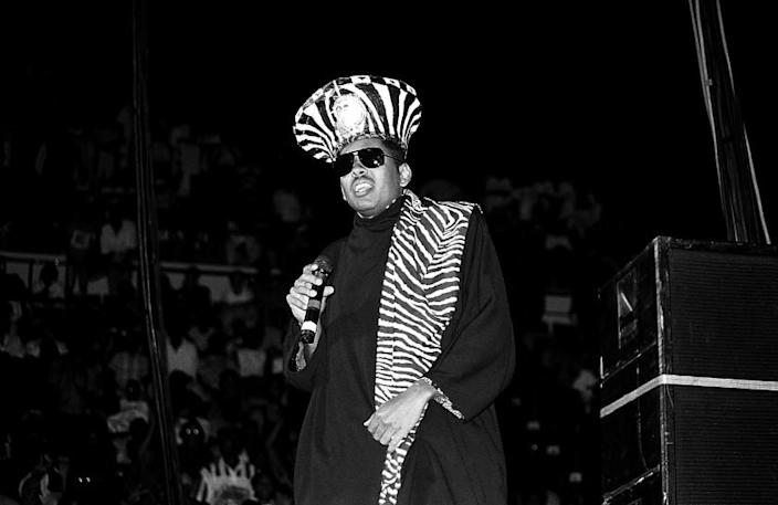 Rapper Shock G. of Digital Underground performs at Market Square Arena in Indianapolis