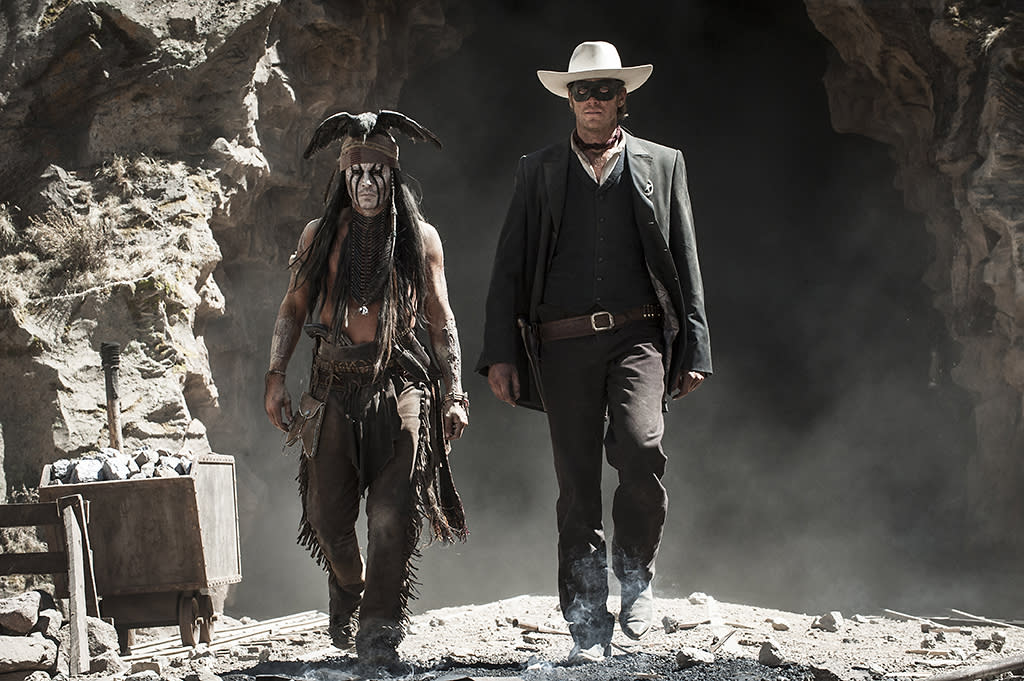 "Johnny Depp and Armie Hammer in Walt Disney Pictures' ""The Lone Ranger"" - 2013"