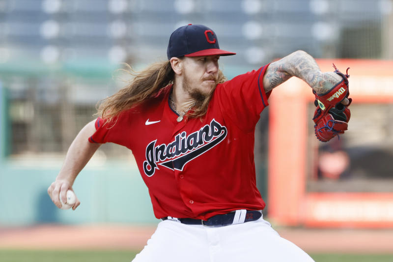 The Cleveland Indians have traded pitcher Mike Clevinger. (Photo by Ron Schwane/Getty Images)
