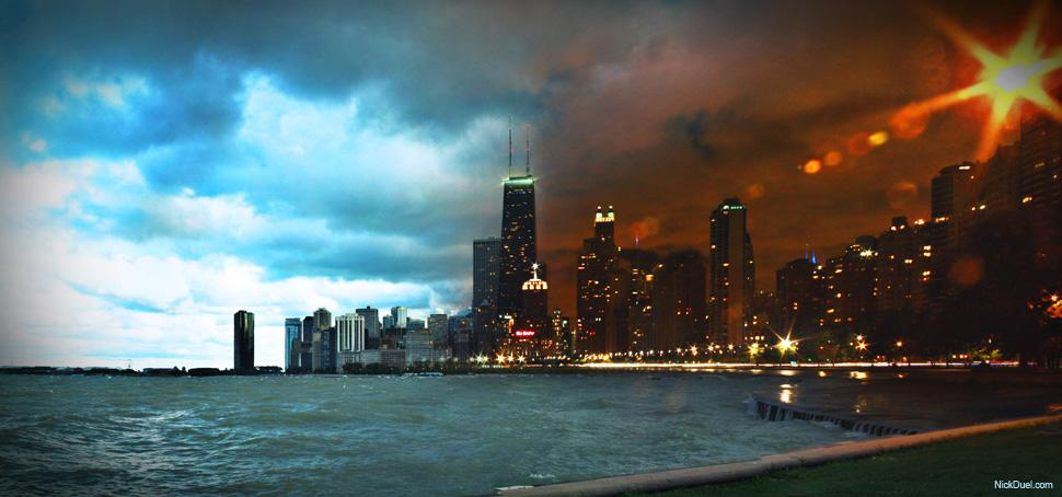 Chicago in a whole new light...and night!  (Photo: Nick Duel / Gizmodo.com)