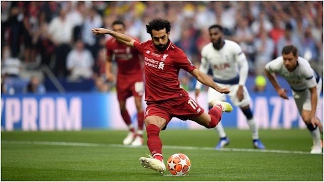 Liverpool's early penalty from Mohamed Salah on Saturday was the fastest Champions League final goal since 2005.