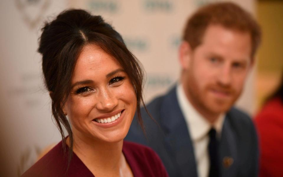 The Duke and Duchess of Sussex attend a roundtable discussion on gender equality with The Queen's Commonwealth Trust in 2019 - Jeremy Selwyn/Pool via Reuters/