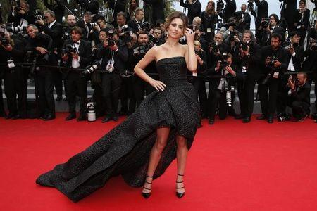 "Singer Cheryl Cole poses on the red carpet as she arrives for the screening of the film ""Foxcatcher"" in competition at the 67th Cannes Film Festival in Cannes"