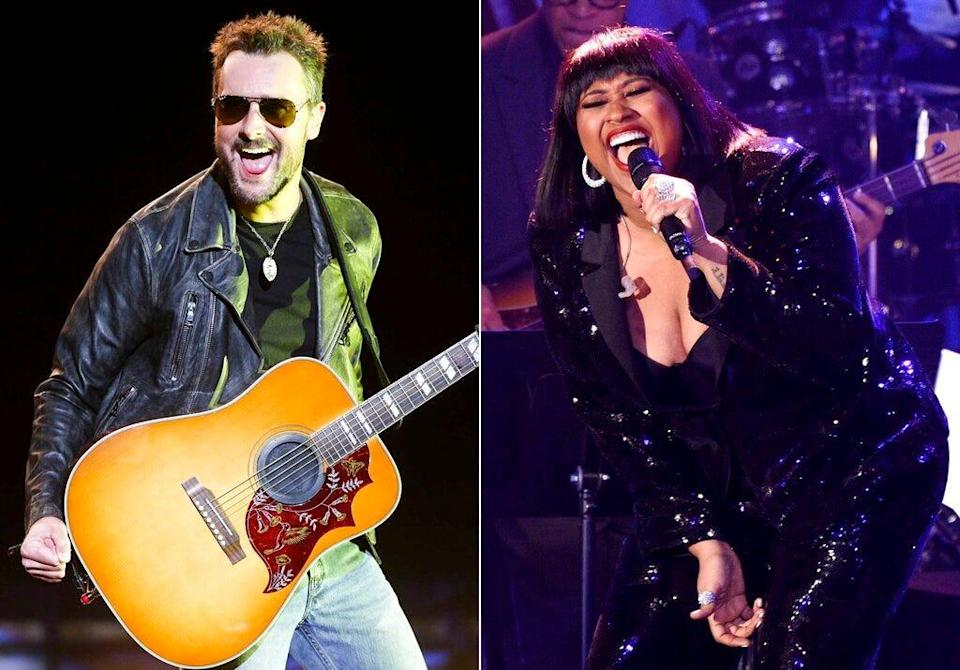 R&B star Jazmine Sullivan and country singer Eric Church will join forces to sing the national anthem at the next month's Super Bowl.