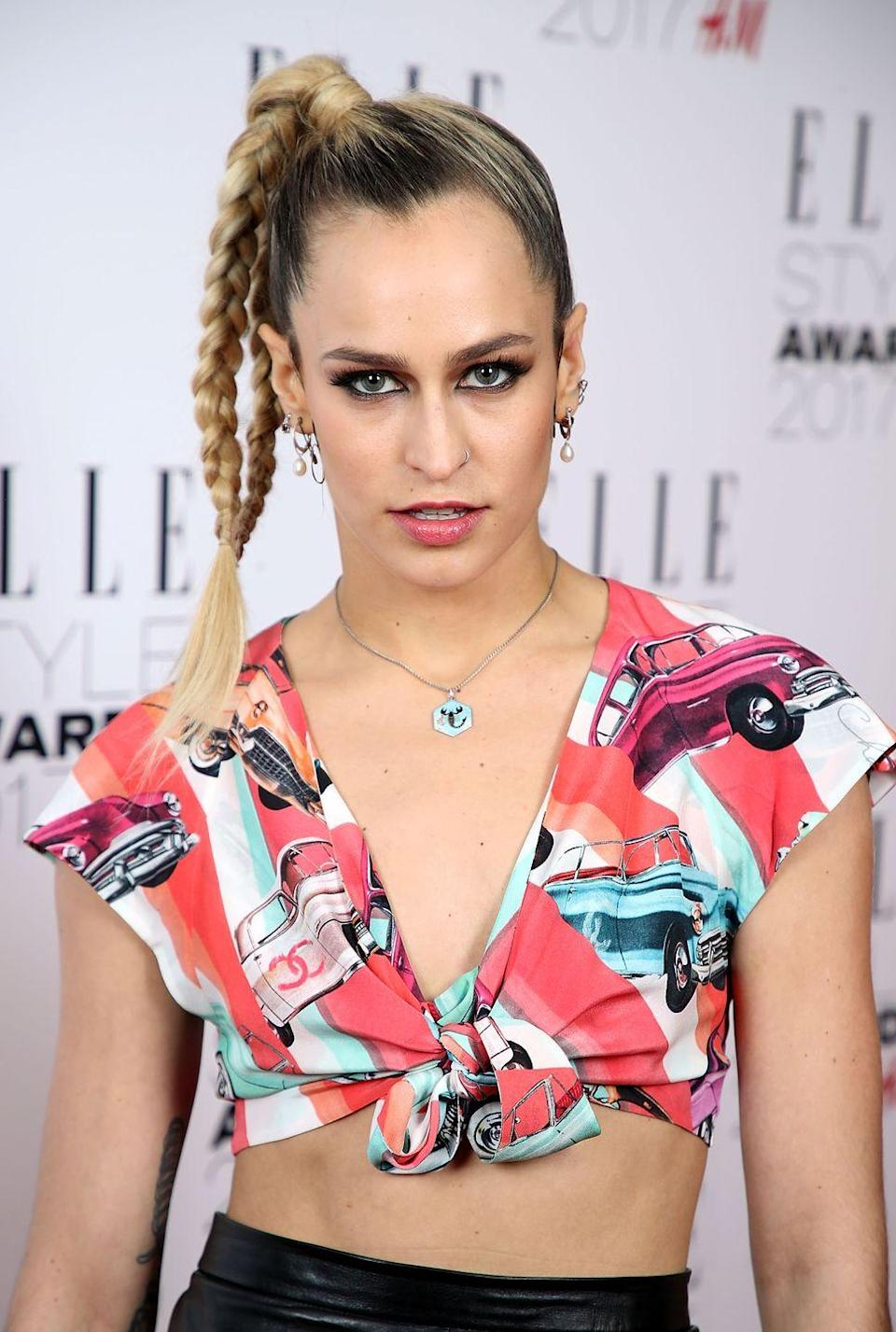 <p>Why have one plait when you can have two? We're all about Alice Dellal's go-to split plait pony.</p>