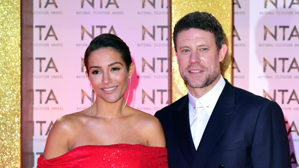 Frankie Bridge made husband Wayne write a will on their honeymoon flight after she suffered an anxiety attack. (Ian West/PA Images via Getty Images)