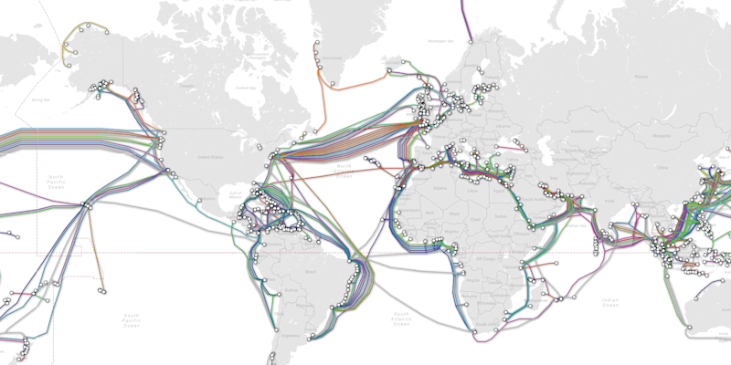 This incredible map shows the undersea cables that keep the internet ...