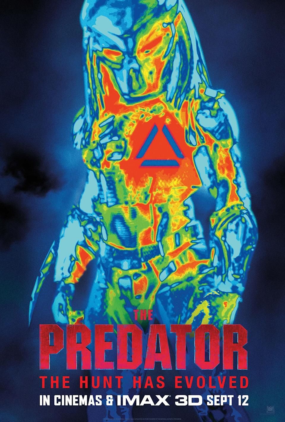 The iconography is instantly recognisable in this one-sheet for <i>The Predator</i> (20th Century Fox)